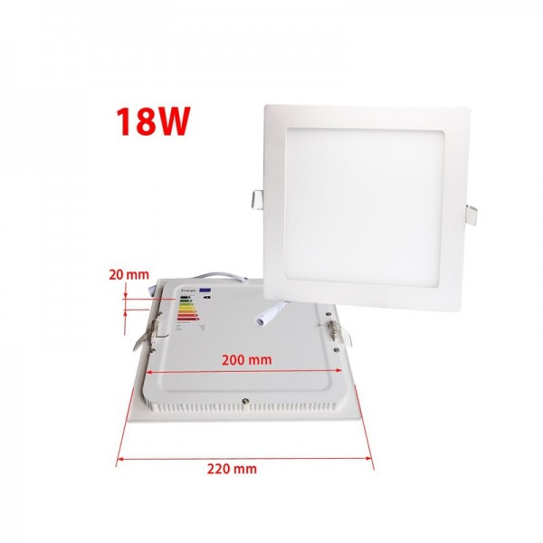 9 Inch 225x225mm SMD2835 18Watt Square LED Panel Downlight