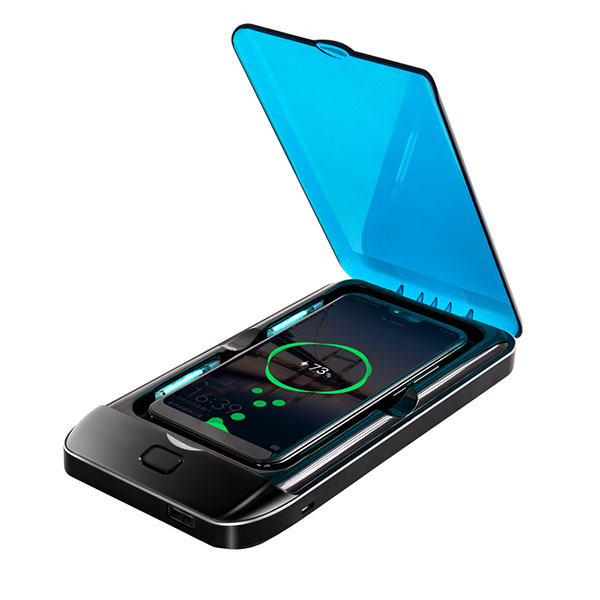 New portable uvc led cellphone sterilizer box small 2 in 1 uv light disinfector mobile smart phone case sanitizer