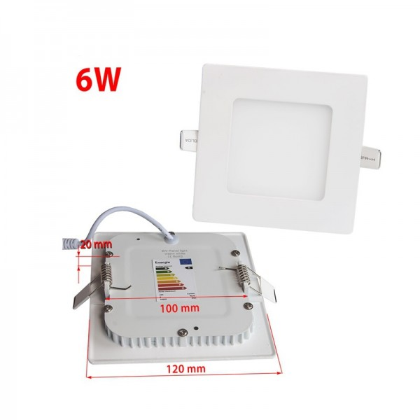 3W 6W 9W 12W 15W 120x120mm Embedded Square Small LED Panel Light