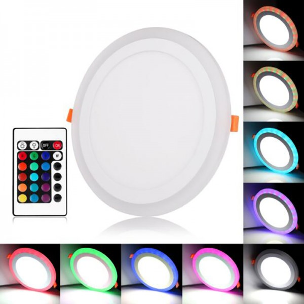 18W 6W 240mm Ultra Thin Two Color RGB LED Panel Downlight