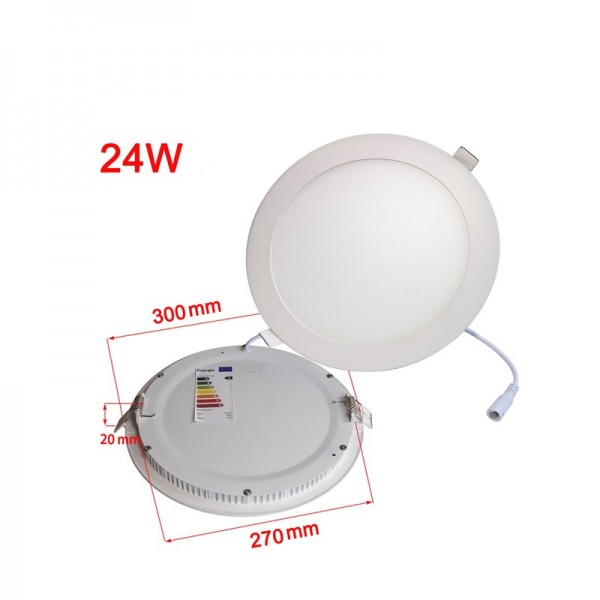 Emergency Driver 300mm 600mm Suspended Round LED Panel Light