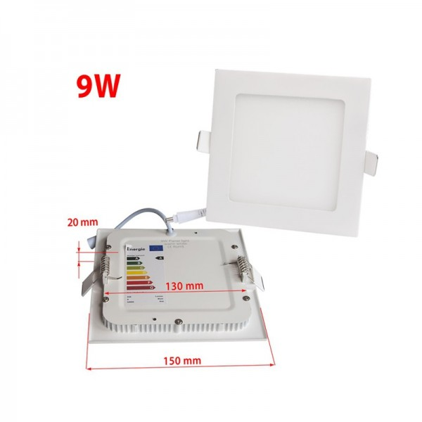 Economical Price 9W 145x145mm Dimmable Square LED Panel Downlight