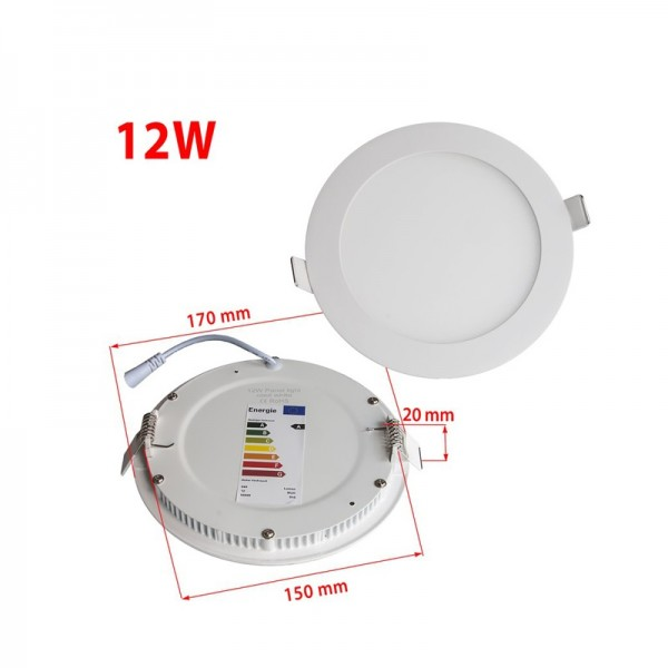 12W 170mm Dimmable Recessed Round LED Slim Office Panel Downlight