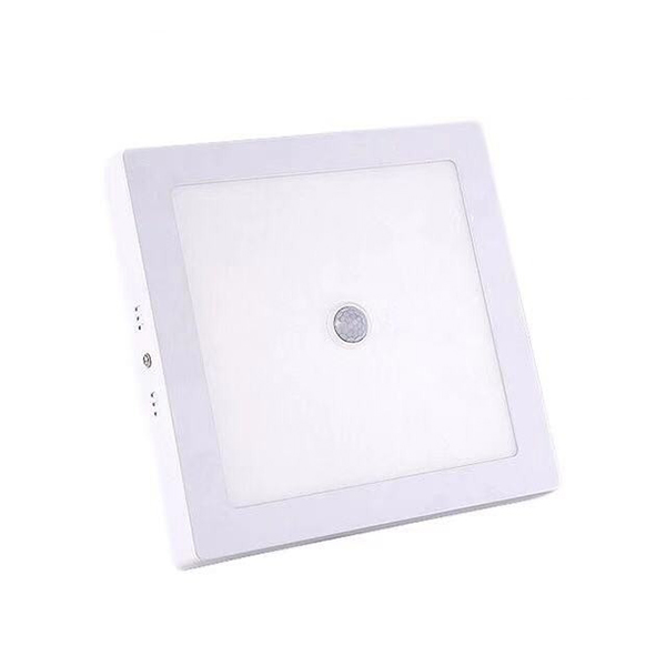 White Frame Square Motion Sensor LED Surface Ceiling Panel Downlight