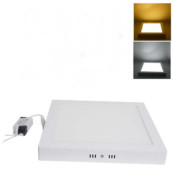 16W China Panel Light Supplier 6 9 12 18 24 Watt Surface BIS CE Ceiling Mounted LED Light Fixtures Square Surface Panel Light