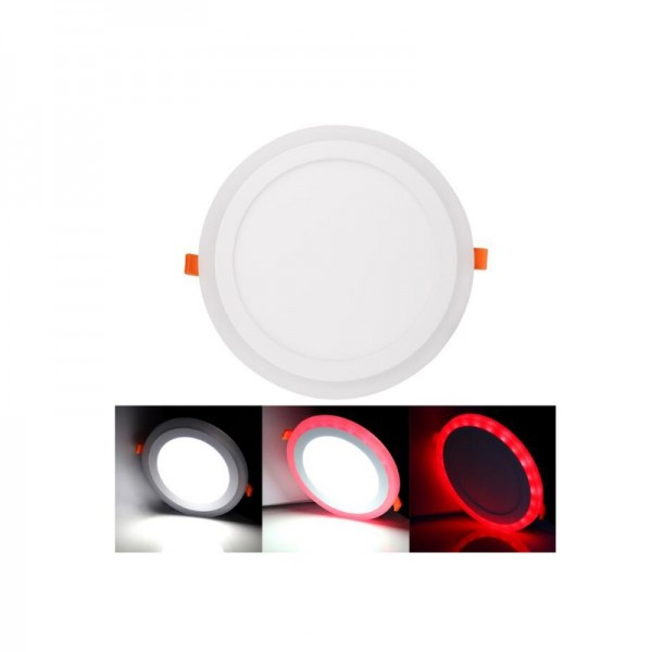 3W 105mm Recessed Round RGB Double Color LED Panel Light