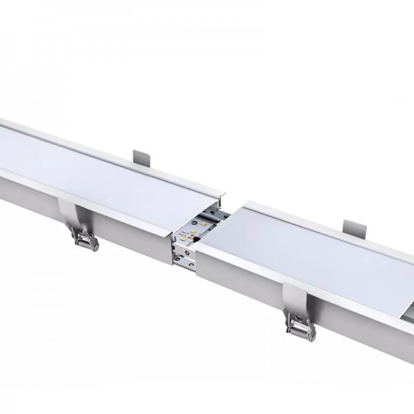 Good quality Led Linear Ceiling Light - Modern Aluminum 36W White Black Color Recessed LED Linear Light – Lightman