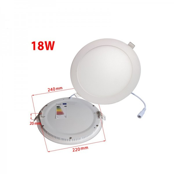 Die-Casting Aluminum 18W 225mm Dimmable Round LED Ceiling Panel Light