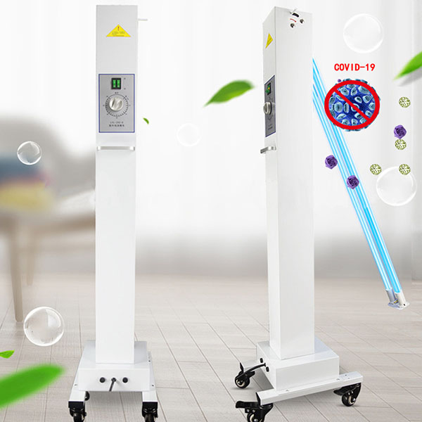 Indoor used portable mobile germicidal ultraviolet sterilizing light LED UV-C lampe with wheels