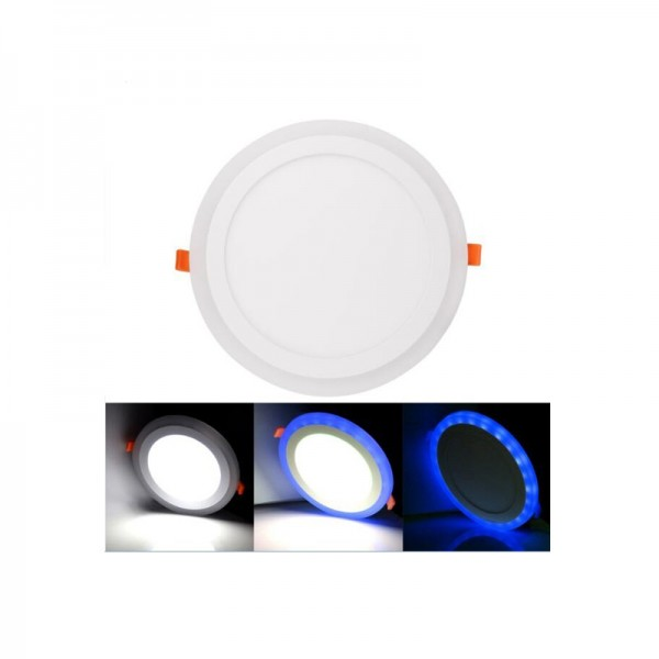 6W 12W Color Changeable Round RGB Double Color LED Flat panel Downlight