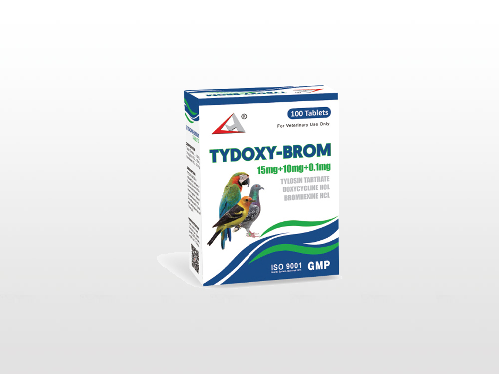 Tylosin Tartrate  Doxycycline HCL  Bromhexine HCL Tablet  15mg 10mg 0.1mg Featured Image