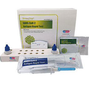 StrongStep® SARS-CoV-2 Antigen Rapid Test is a rapid immunochromatographic assay for the detection of COVID-19 antigen to SARS-CoV-2 virus in human Throat/Nasopharyngeal swab.