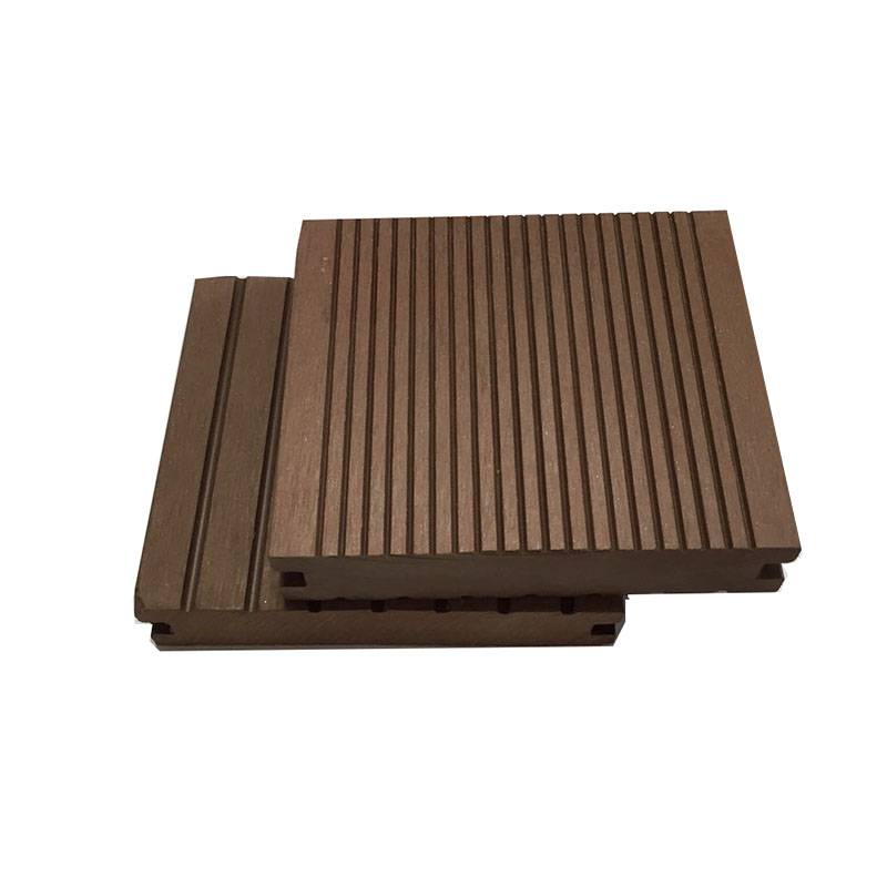 Environmental Outdoor Wood Plastic WPC Solid Decking