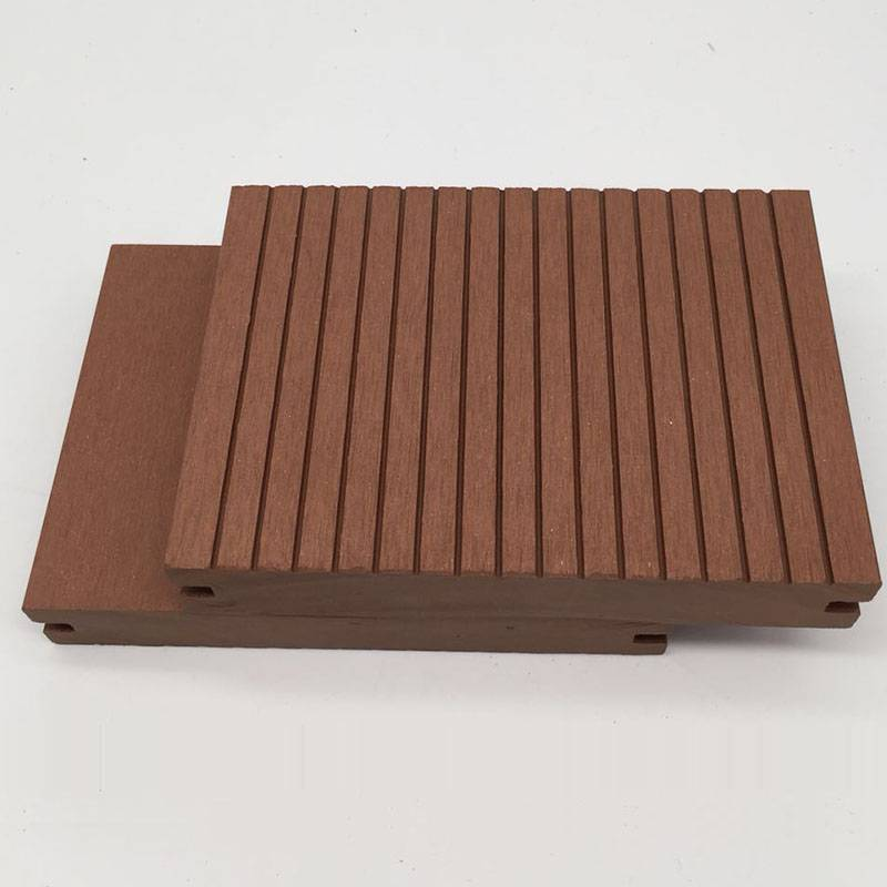 Outdoor No Crack&Warp Wood Plastic WPC Decking