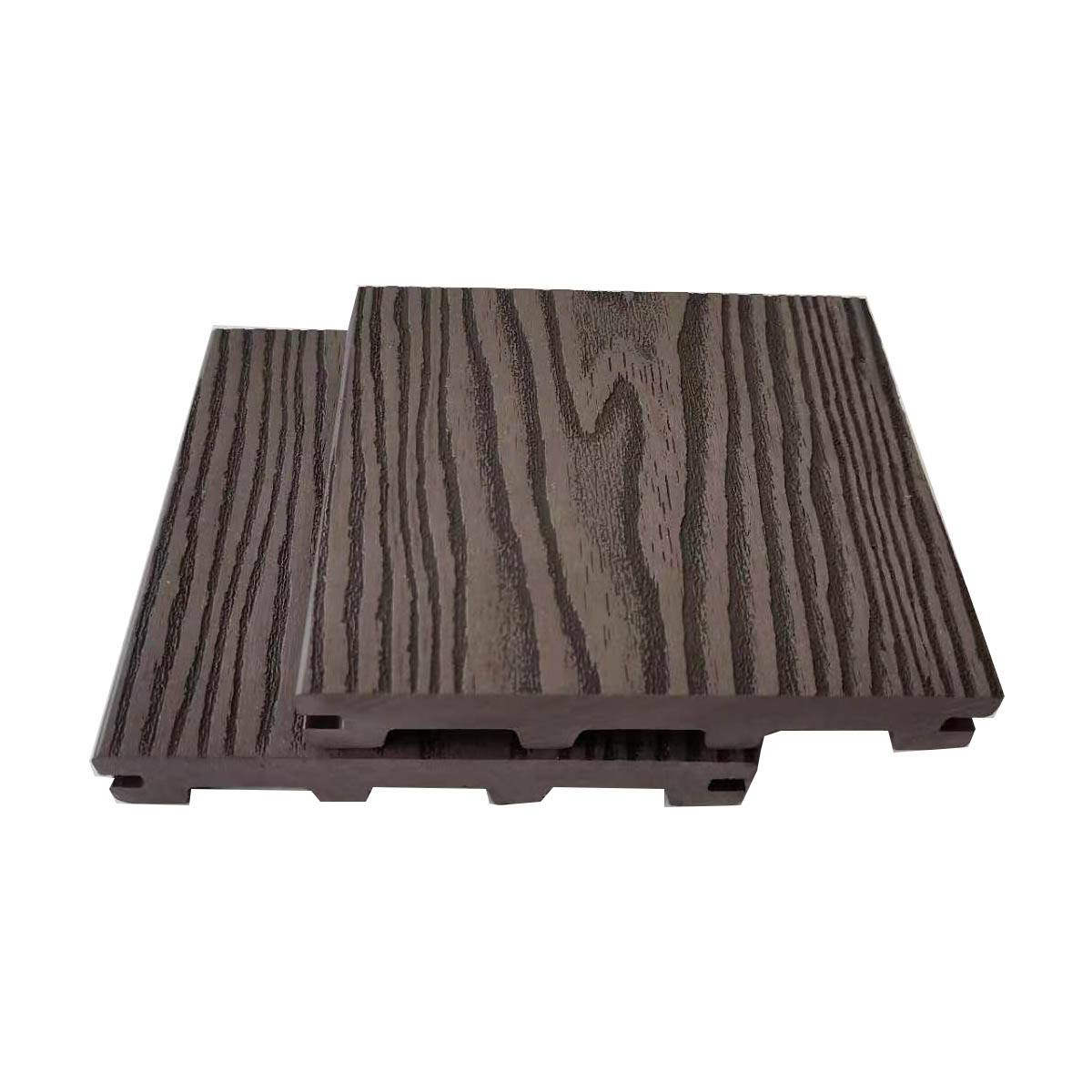 UV Resistance Deep Embossed Solid WPC Decking Exterior