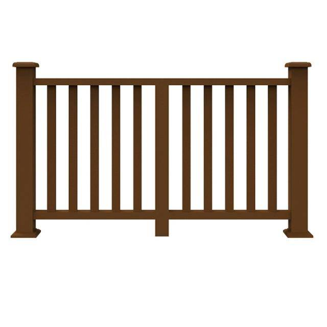 Environmental protection outdoor decorative easy installation wood plastic WPC handrail