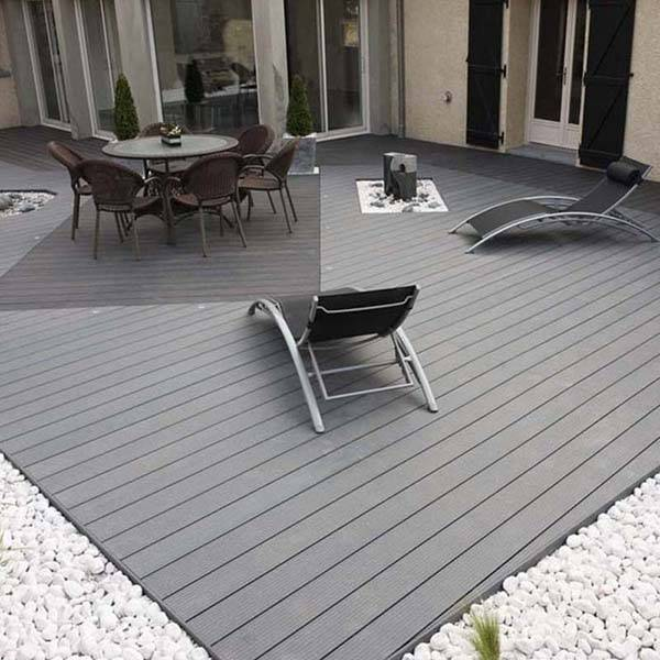 Long Life Recycled Exterior Wood Plastic Decking