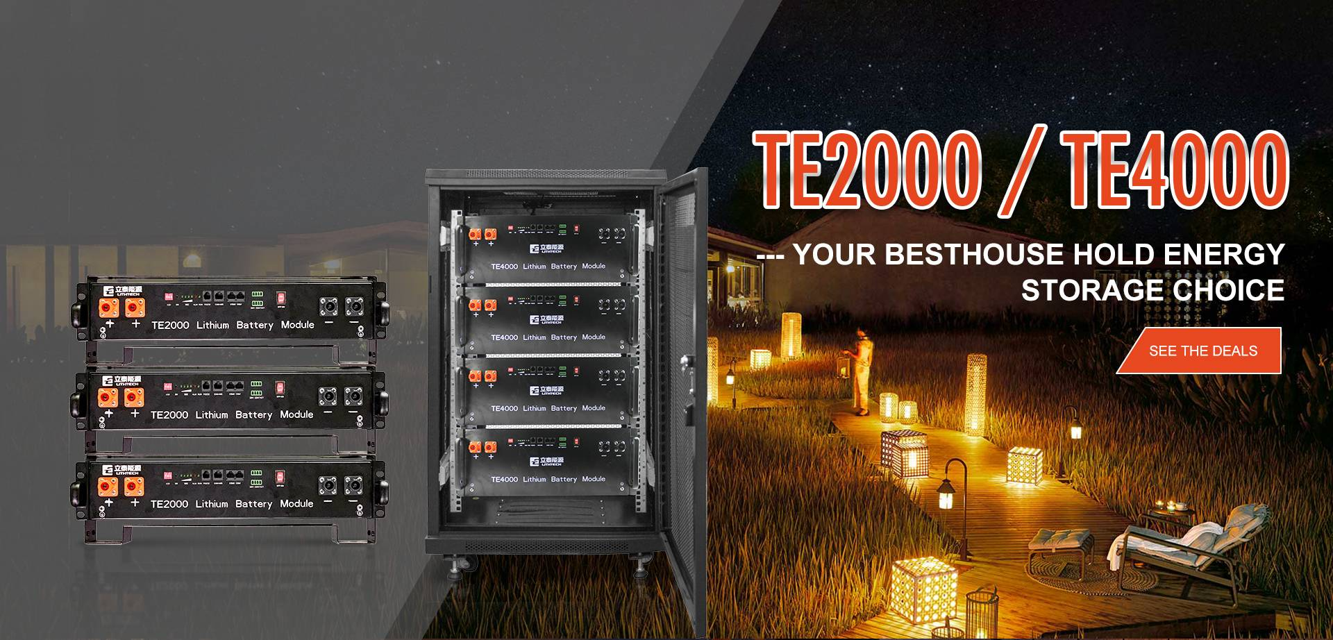 LLithtech TE4000 48V 100Ah ESS Battery Energy Storage System Lifepo4 Battery