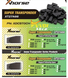 Original VVDI Super Chip XT27A66 = XT27C75 1907 to copy 46/47/48/4C/4D/4C/4E/8A/8C/8E for VVDI key tool Free shipping