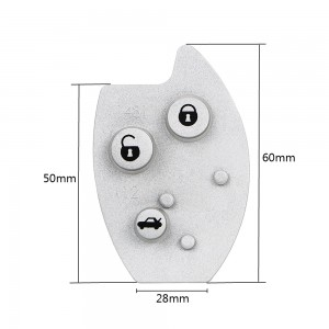 Citroen C5 3 button key Pad