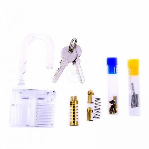 LOCKSMITHOBD 2020 New Arrived Practice Transparent  Padlock can be Removable