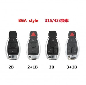 LOCKSMITHOBD Benz High Quality Keyless Entry Smart 3 Button BGA Remote key433Mhz After 2010
