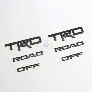 Toyota 4Runner 3D Letters Black TRD OFF ROAD Badge Decal Sticker Nameplate