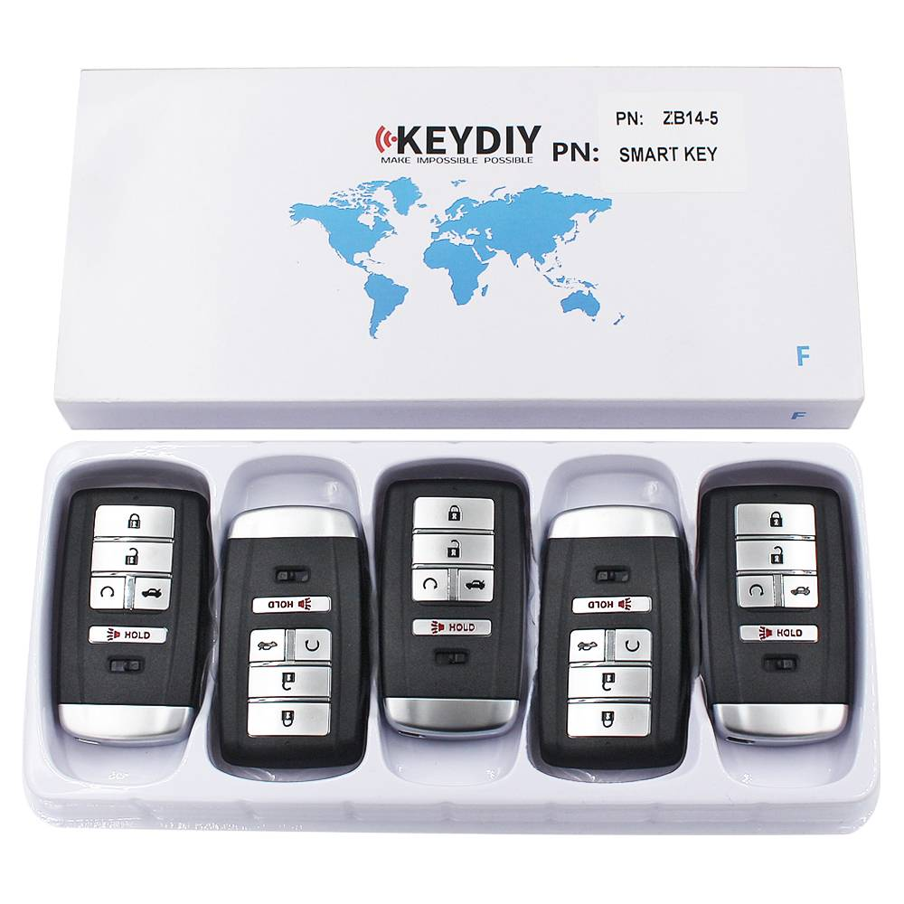 KEYDIY ZB series ZB14-5 button universal remote control  for KD-X2 mini KD Featured Image