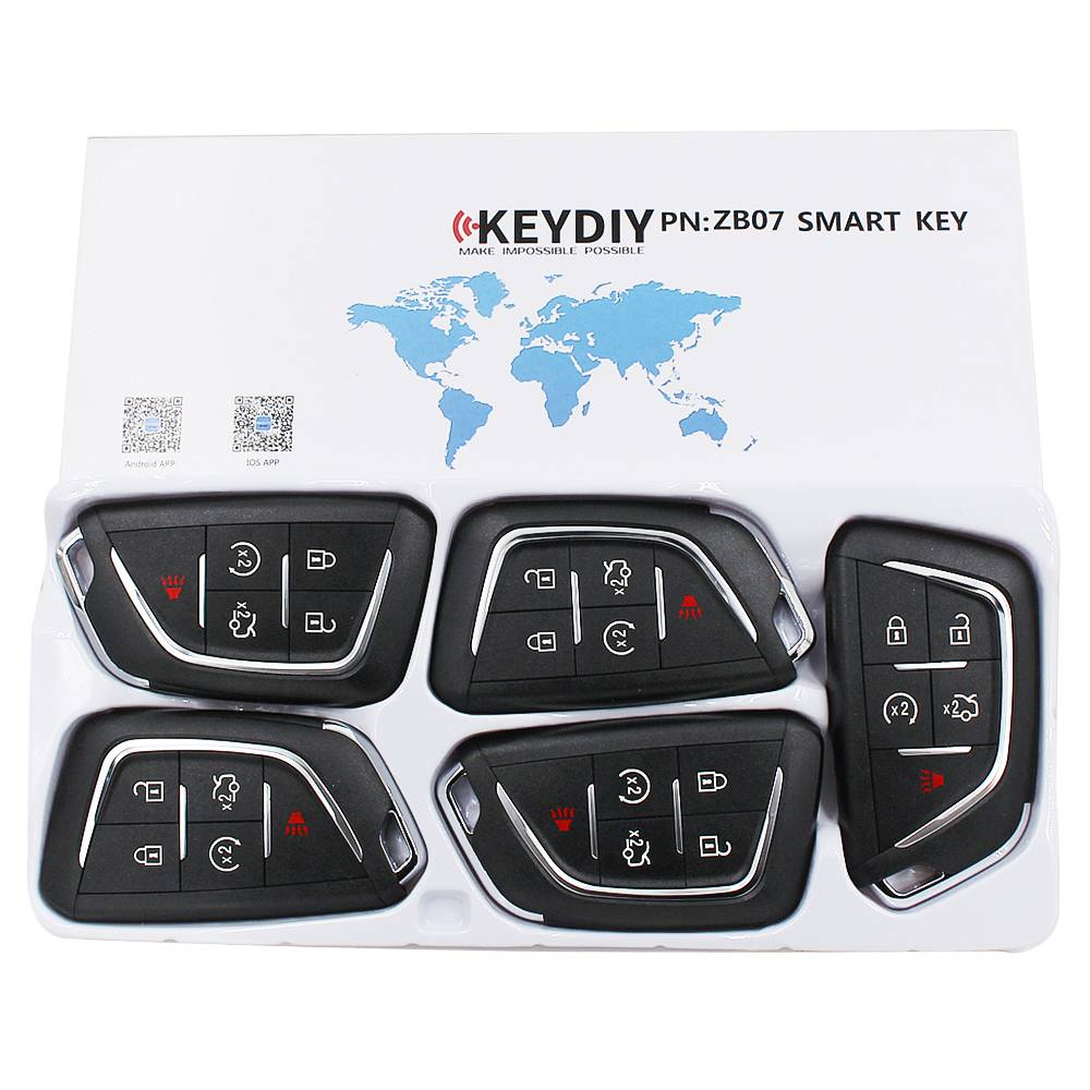KEYDIY ZB series ZB07-5 button universal remote control  for KD-X2 mini KD Featured Image