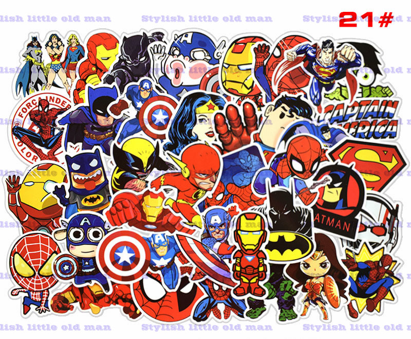 50 Pcs/Set Cartoon graffiti sticker waterproof car personality sticker skateboard luggage motorcycle car sticker