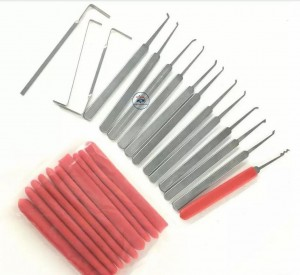 LOCKSMITHOBD Honest 15IN1  High Quanlity lock pick set Brilliant Lockpick Set