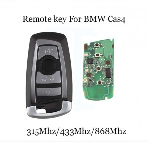 LOCKSMITHOBD 4 buttons 868mhz remote key for BMW F CAS4 with PCF7945 chip