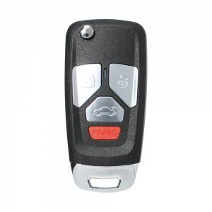 10PCS/LOT ْXhorse XNAU02EN Wireless Remote Key Fit for Audi Flip 4 Buttons Key