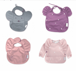 2021 Popular recycled waterproof baby bib with lacework