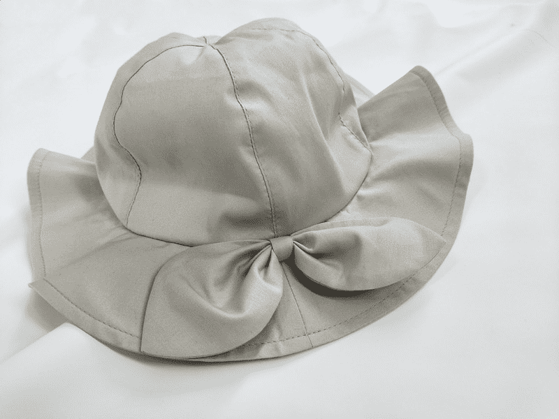 Recycled kids sun hats with bow-knot