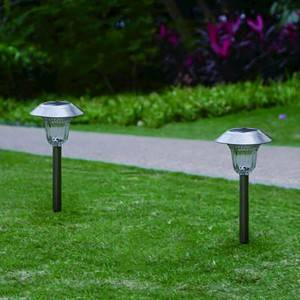 Stainless Steel Solar Path Light (2-Pack)