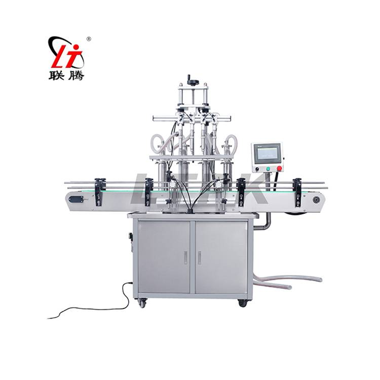 Straight line liquid filling machine