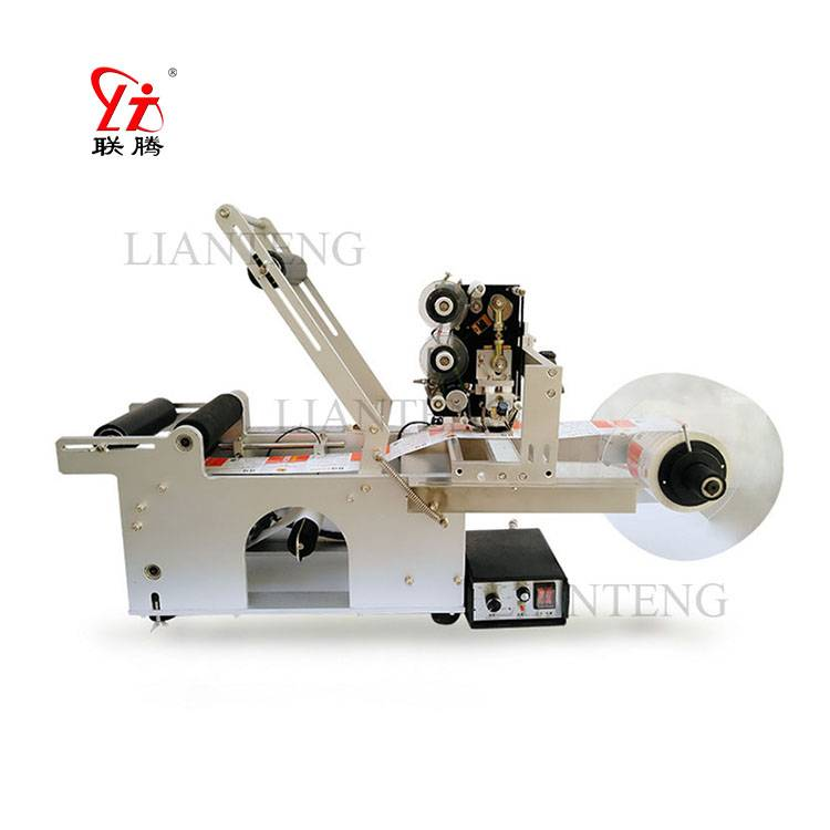 LT-50D round bottle labeling machine with code machine Featured Image