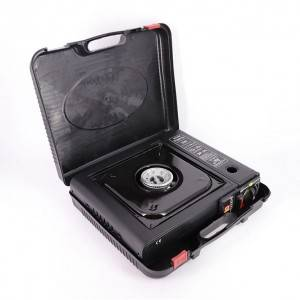 Cassette Grill Portable Gas Stove Furnace Barbecue Tool with Plastic Hand Box for Camping Outdoor