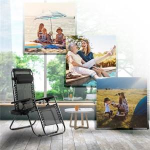 Conventional Zero Gravity Chair Folding Beach Chair