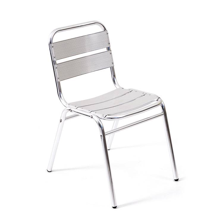 Alum. 5-sheet Outdoor garden Chair wo armrest Featured Image