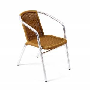 Alum. Outdoor garden wicker Arm Chair