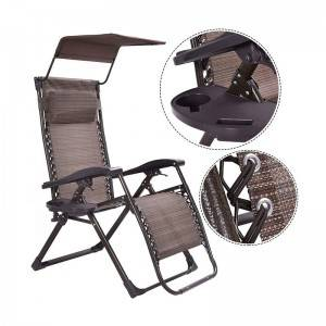 Luxury square tube Zero Gravity Chair with Sunshade and special fabric