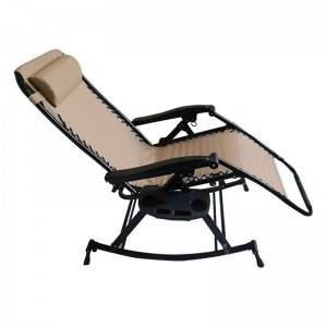Zero Gravity rocking chair with cup holder
