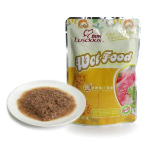 LSCW-10 Tuna wiht Luckfish Cat Canned Food Wholesale