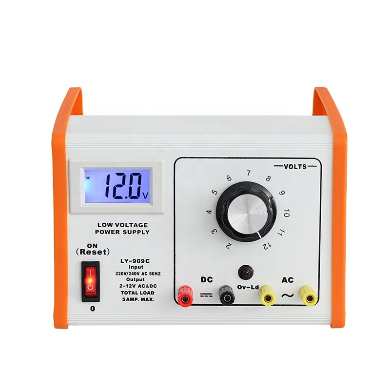 white orange panel 2 to 12v power supply for student