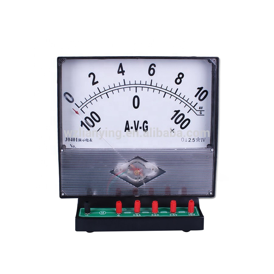 Demonstrate analog electric ammeter voltmeter