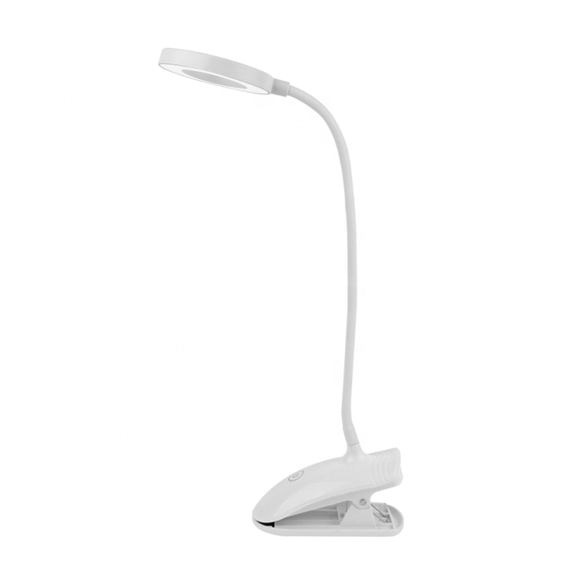 adjustable white colour usb touch small table lamp