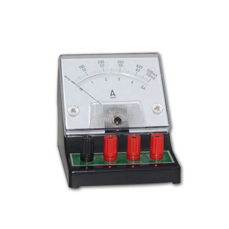 Durable safety laboratory ammeter for school and lab analog panel meter