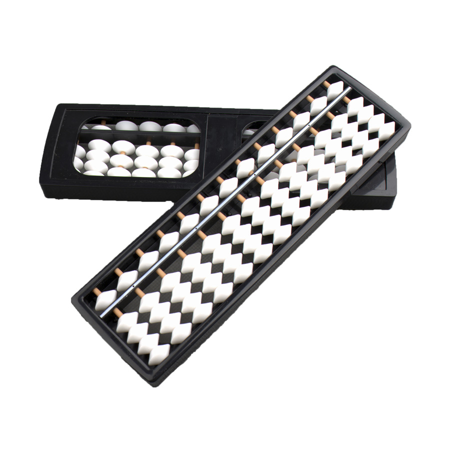 2019 High quality Mathematics Equipment – 13 Rods White Beads Plastic Student Abacus Soroban – Lianying